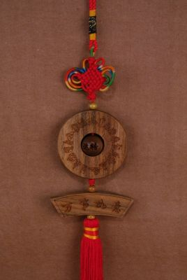 Feng Shui Pendants in Wood Bi Disk
