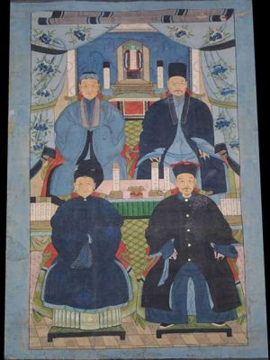 Old Large Chinese Ancestors painting