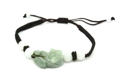 Small Jade Bracelet Guardian Lion