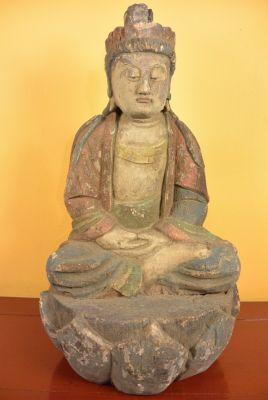 statues en bois chinoise de bouddha chinois et bouddha thai. Black Bedroom Furniture Sets. Home Design Ideas