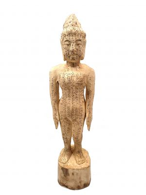 Acupuncture Woman Wooden Statue Chinese Medicine