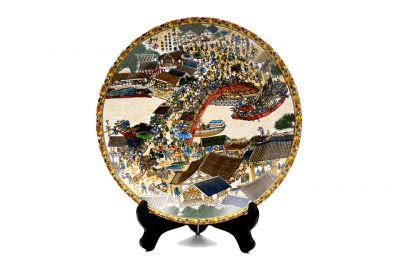 Porcelain plate Chinese City