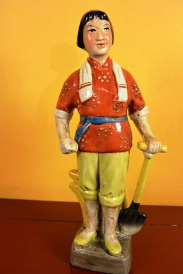 Chinese bisque statue