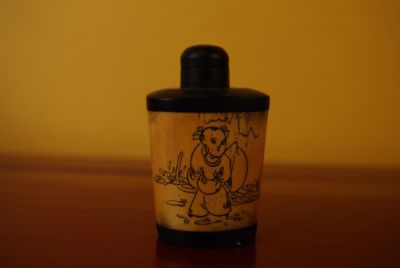 Chinese Snuff Bottle in Bone child