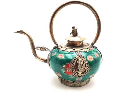 Chinese Porcelain Teapot Green