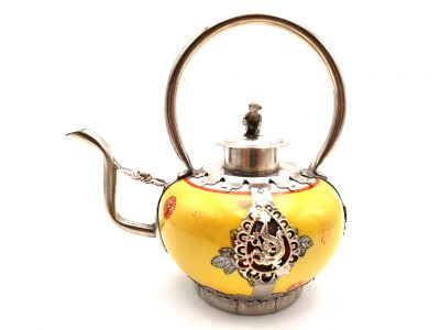 Chinese Porcelain Teapot Yellow