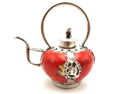 Chinese Porcelain Teapot Red