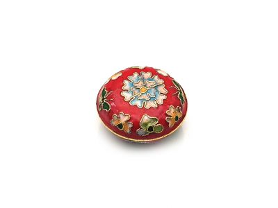 Very Small Chinese Cloisonné Enamel Box Red