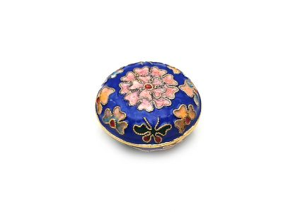 Very Small Chinese Cloisonné Enamel Box Blue