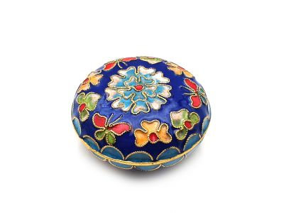 Small Chinese Cloisonné Enamel Box Blue