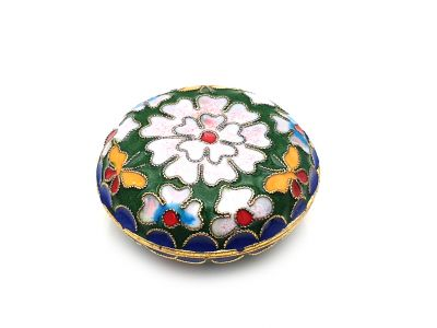 Small Chinese Cloisonné Enamel Box Green
