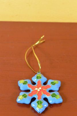 Star in Cloisonné Light Blue