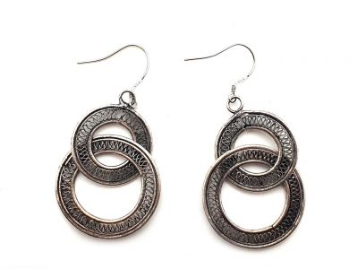 Miao Ethnic Earrings 2 Circles