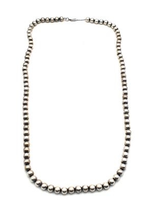 Ethnic Bead Necklace Long and Thin