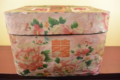 Old Chinese Paper Boxe Peony flower