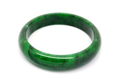 Dark green Jade bangles Type A 6 1cm