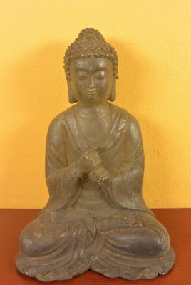 Statue de bouddha en position de méditation lotus