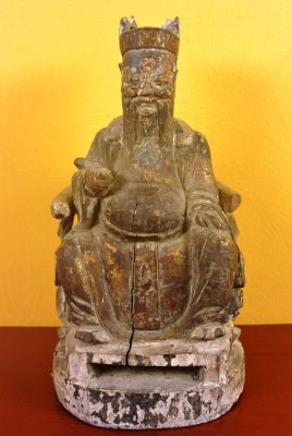 Old Chinese Statue Taoist Monk