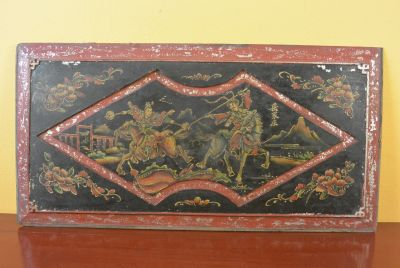 Chinese wood panel Painting Riders