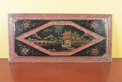 Chinese wood panel Painting Pagoda