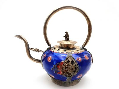 Chinese Porcelain Teapot Blue