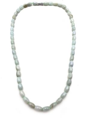 Jade Necklace 68 Oval Beads