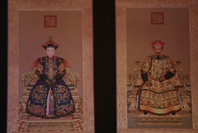 Small Chinese ancestor couple KangXi emperor
