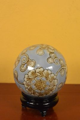 Porcelain Chinese Ball with Stand