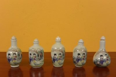 Chinese Chinese SnuffBottles Lot Court lady 2