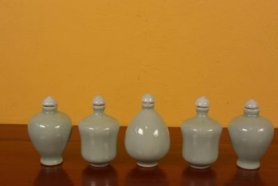 Chinese Chinese SnuffBottles Lot Celadon
