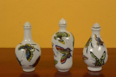 Chinese Chinese SnuffBottles Lot Butterflies 3