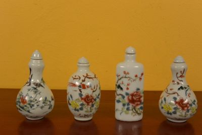 Chinese Chinese SnuffBottles Lot Flowers and Birds 2
