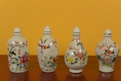 Chinese Chinese SnuffBottles Lot Flowers and Birds 3