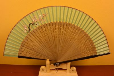Asian Hand fan Japanese cherry tree 2