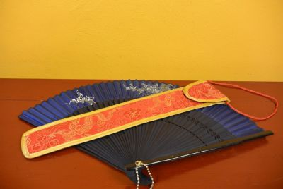 Hand fan silk Pouch