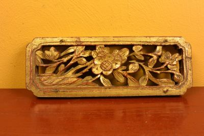 Old Asian Panel in Wood Flower