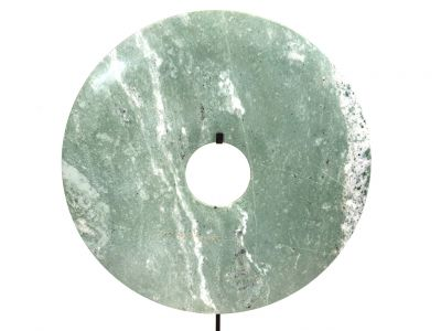 Very Large Chinese Bi Disc in Jade 40cm