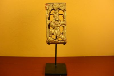 Chinese Qing wood with Stand Woman 1