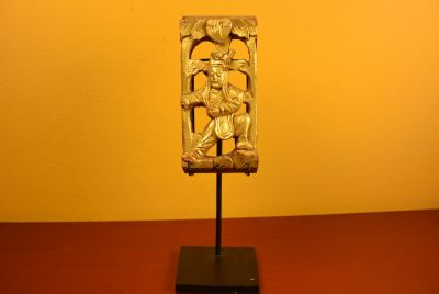 Chinese Qing wood with Stand Kung fu 1