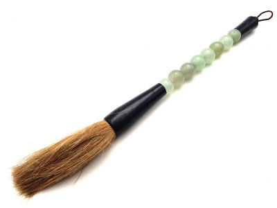 Small Chinese Calligraphy Brush Jade color