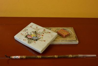 Calligraphy Set Porcelain Insects