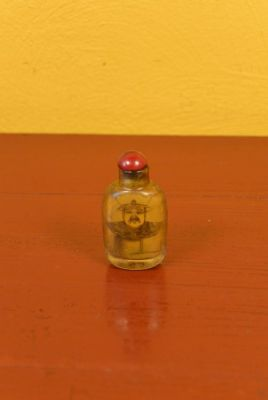 Small Chinese Glass Snuff Bottle Emperor Nurhaci