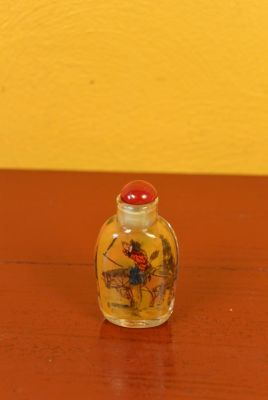 Small Chinese Glass Snuff Bottle Horse