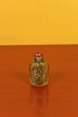 Small Chinese Glass Snuff Bottle Chinese village