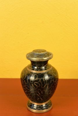 Potiche or Vase in Cloisonné Black