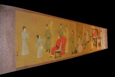 Very Large Chinese Kakemono Painting Han Xizai