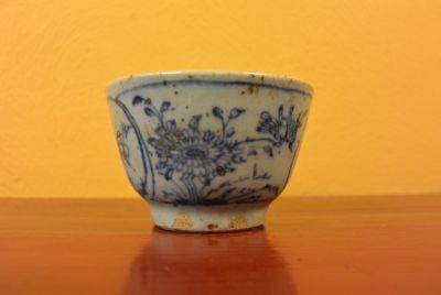 Small Chinese bowl or glass in porcelain