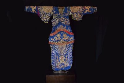 Ancient Chinese Theater Costume blue and gold