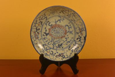 Chinese porcelain plate Flower