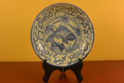 Chinese porcelain plate Fish